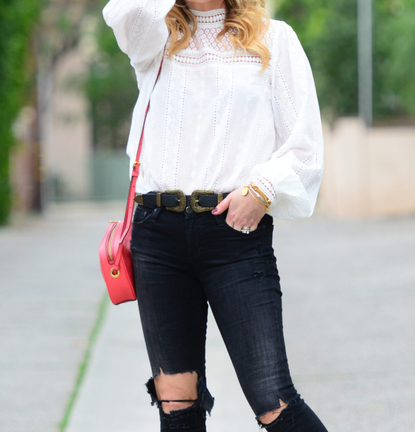 victorian blouse ripped denim 5