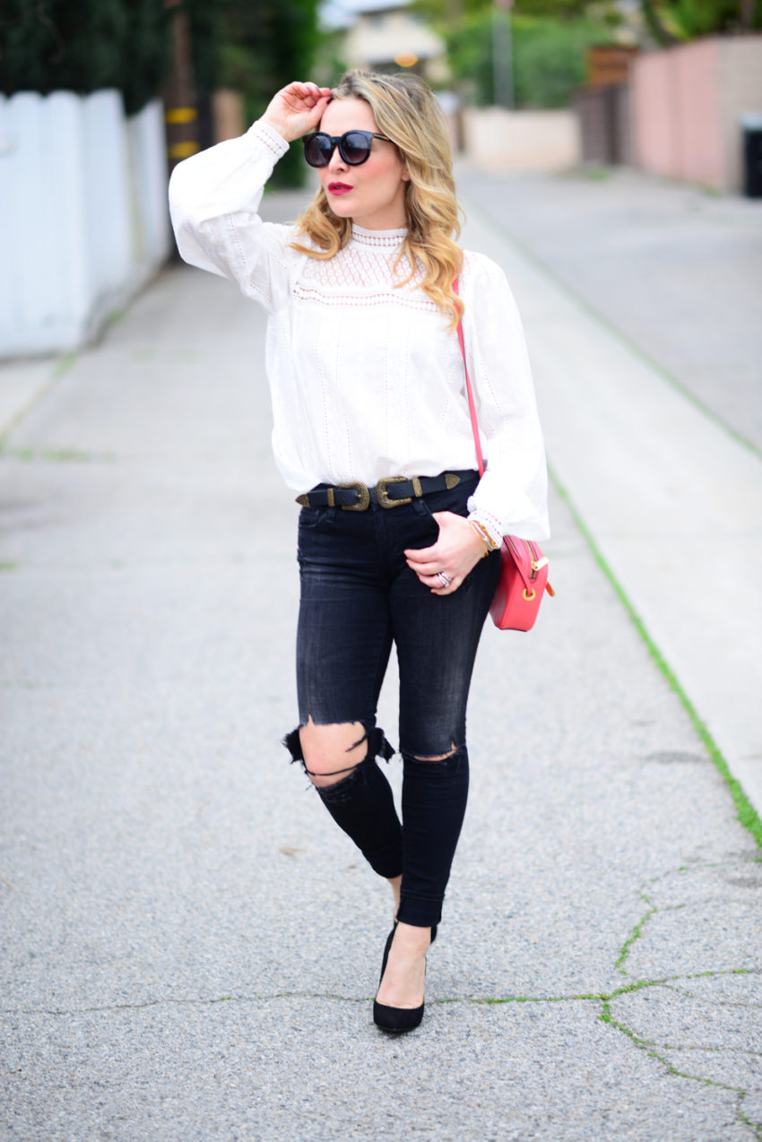 victorian blouse ripped denim 7