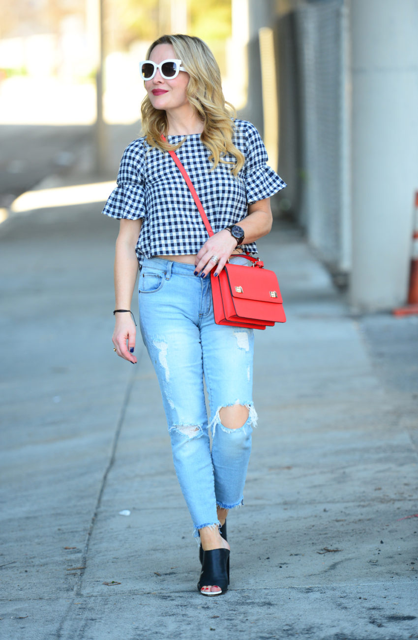 gingham and denim 1