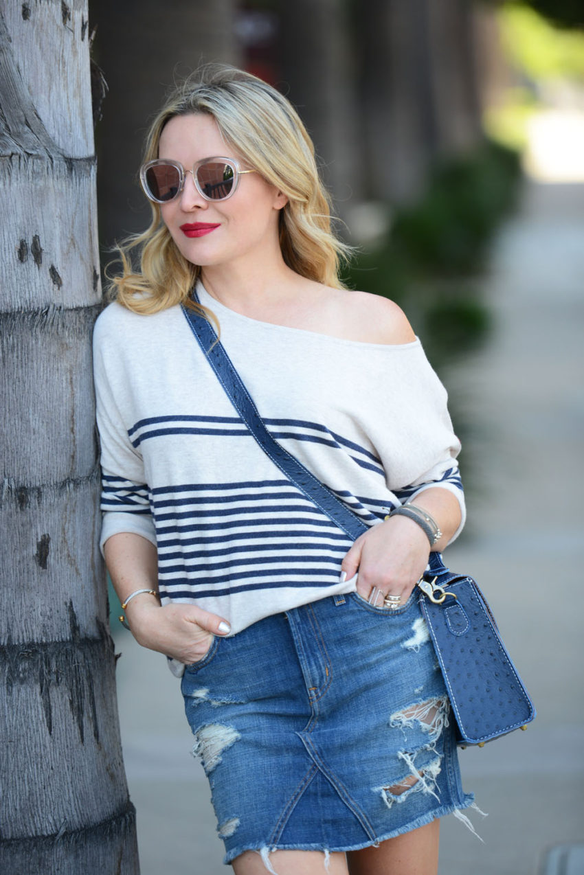 striped cashmere