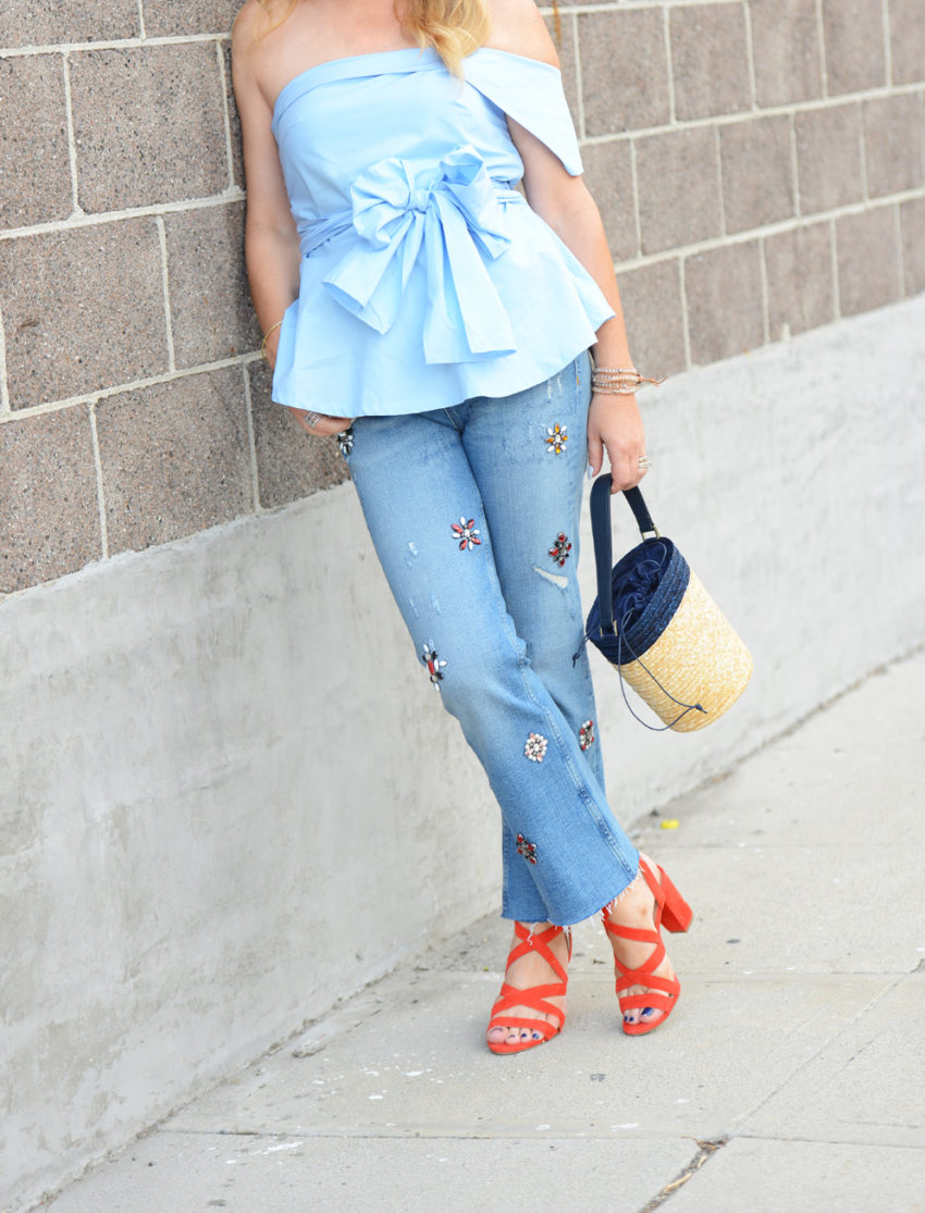 embellished denim