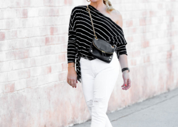 Black Cap, White Denim & Stripes.