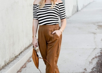 Slouchy Slacks, Off Shoulder Stripes.