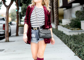 Knee High Boots, Velvet & Stripes.