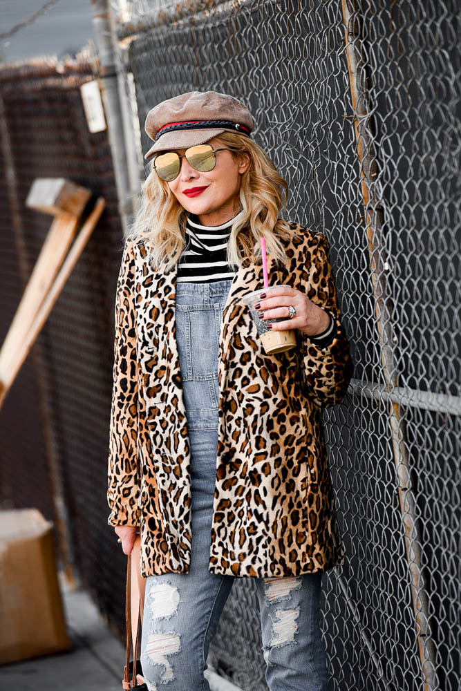 Philosphy Leopard Coat featured by popular Los Angeles fashion blogger, The Hunter Collector