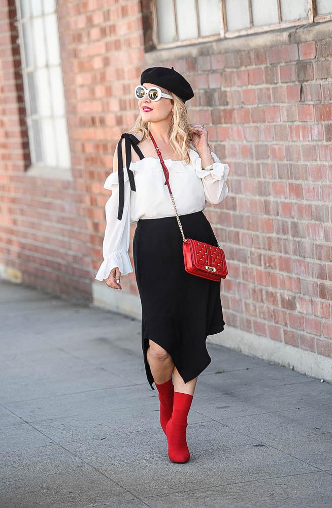 red white & black
