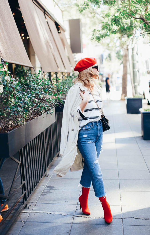 7f98a819 Stripes and denim are a no-brainer combination and a look I turn to very  regularly. I love this particular striped sweater because of the darling  lace up ...