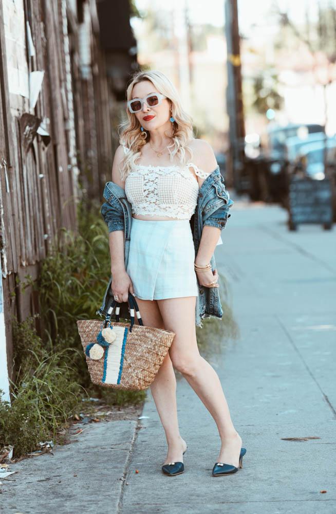 plaid shorts