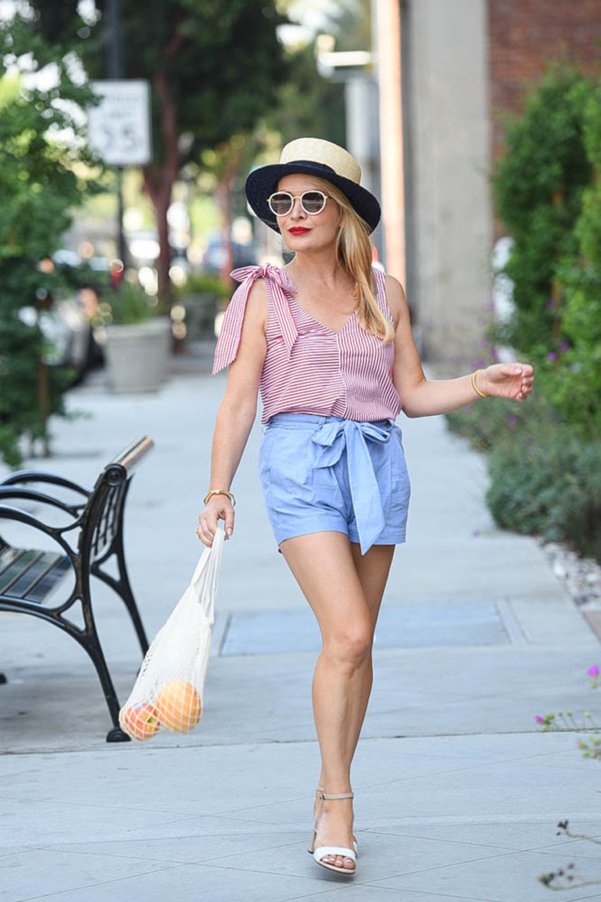 4th of July Outfit: Red, White, Blue & Fruit featured by popular Los Angeles fashion blogger The Hunter Collector