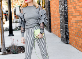 Ruffles, Vertical Striped Pants & Neon.