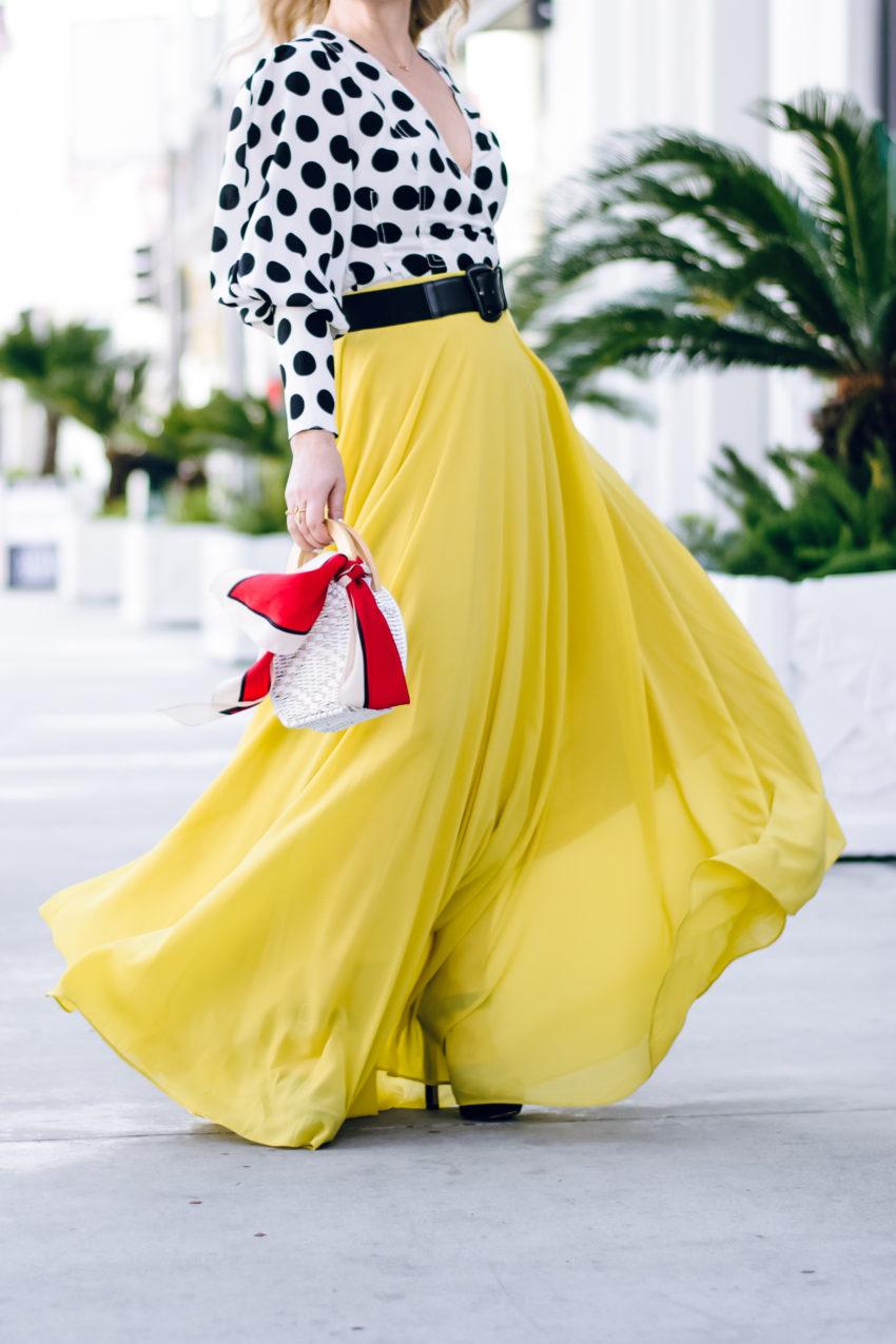 yellow maxi