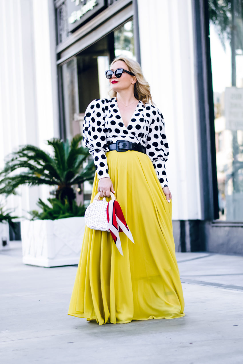 Yellow Maxi, Polka Dots.