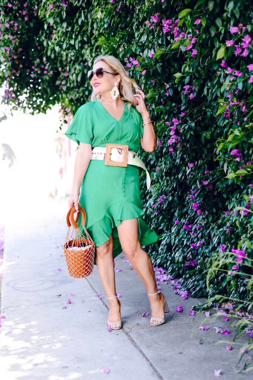 green two piece set
