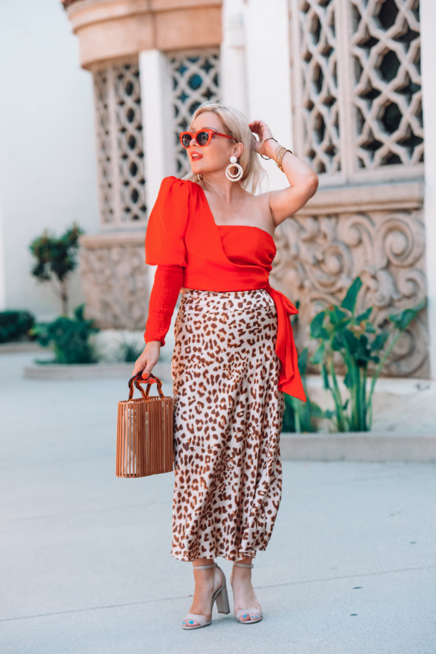 red & leopard