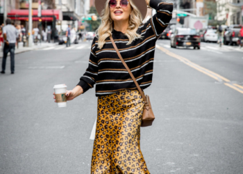 Leopard Slip Skirt & Stripes.