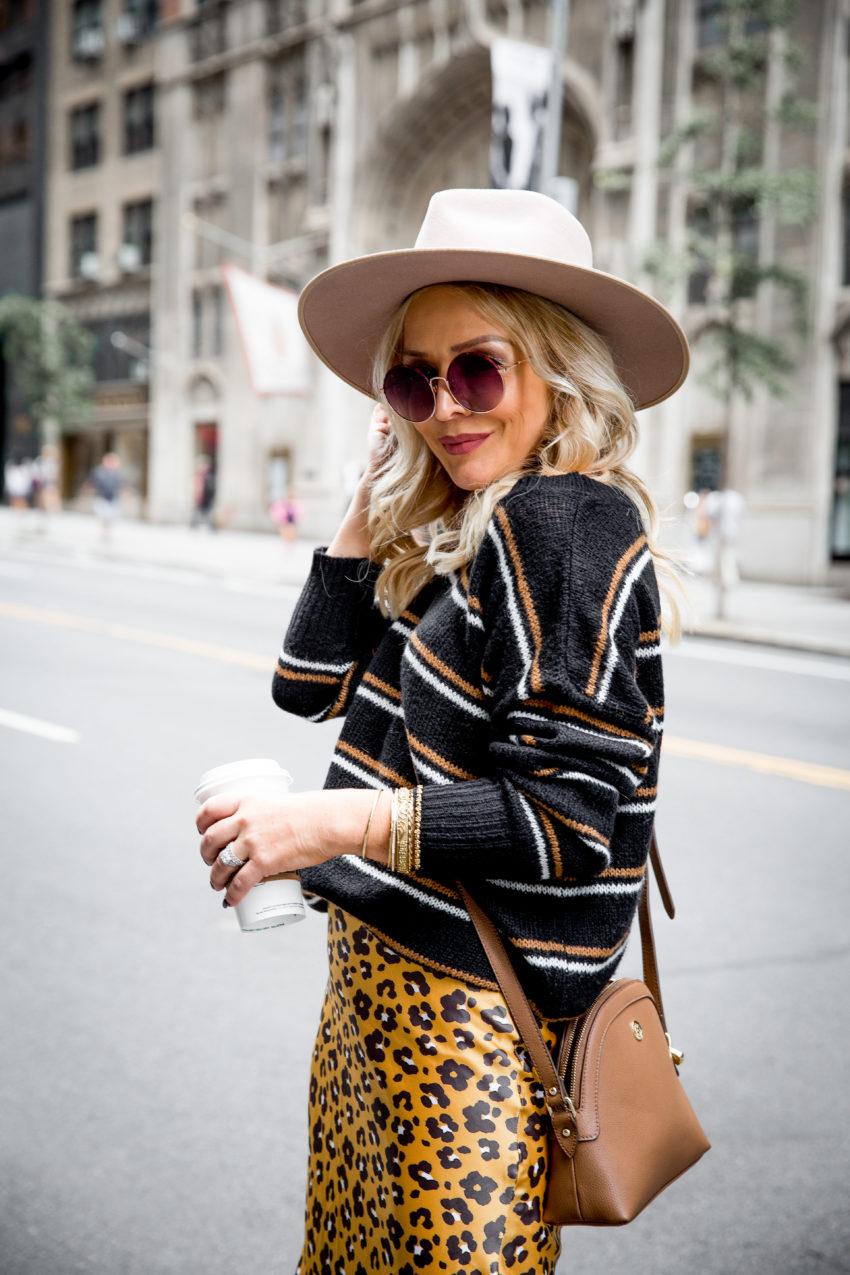 Leopard Slip Skirt