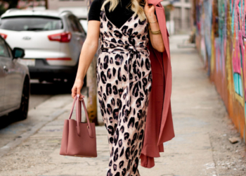 Leopard Jumpsuit, Mock Turtleneck.
