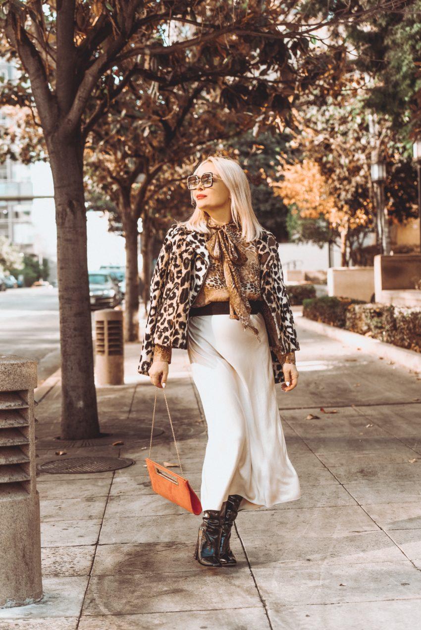 Leopard Print X 2, Slip Skirt.
