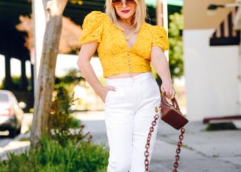 Yellow Lace, White Denim.