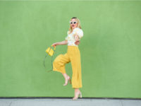 yellow culottes