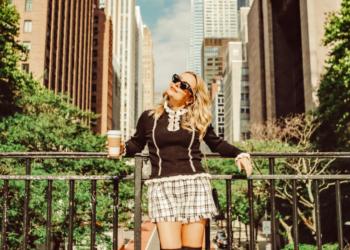 Tweed Shorts. Fall In New York.